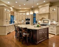 Cream Kitchen Cabinets And With Black Countertops