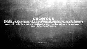 what does decorous mean youtube
