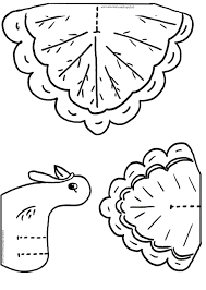 Coloring Pages Turkey Cutouts Kids Thanksgiving Crafts Holiday Activities Kindergarten Feathers Funny Printables