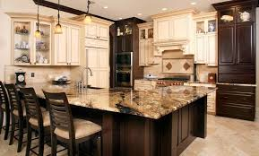 Kitchen Renovation Ideas Dark Cabinets Plain With White Island Find This Pin Custom Design