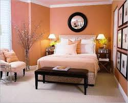 Bedroom Designs Orange And Brown Interior Design