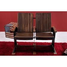 cinema fauteuil 2 places de cinéma 2 places en bois massif acacia laqué gaumont