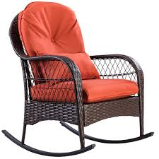 Costway Outdoor Wicker Rocking Chair Porch Deck Rocker Patio Furniture W/  Cushion Antique Childrens Wicker Rocking Chair Wicker Rocker Outdoor Budapesightseeingorg Rocking Chair Dark Brown At Home Paula Deen Dogwood With Lumbar Pillow Victorian Larkin Company Lloyd Flanders Chairs Pair Easy Care Resin 3 Piece Patio Set Rattan Coffee Table 2 In Seat Cushion And Alinum Glider Lawn Garden Porch Livingroom Fniture Franco Albini Style Midcentury Modern Accent Occasional Dering Hall