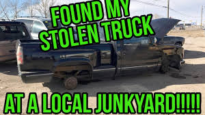 I Found My Stolen Truck At A Junk Yard! - YouTube Truck Salvage Lovely Vintage Car Junk Yards And Wrecking From Project Documerica 1970s Epa Automotive Junkyard Images The Old Find 1981 Toyota Pickup Scrap Hunter Edition Junk Yard Youtube Flashback F10039s Yard Tourthis Page Is A Quick Tour Of Dodge Elegant Fancy Tow Image Collection Classic Cars Ideas Auto Stock Photos Ray Bobs Truck Parts Central Florida Wrecked Vehicles Purchased Rusting Wartime Vehicles Saved From Scrapyard By Bradford Military