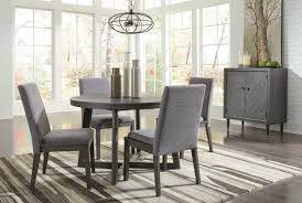 Besteneer Dark Gray 6 Pc Round Table, 4 UPH Side Chairs & Server Sonoma Road Round Table With 4 Chairs Treviso 150cm Blake 3pc Dinette Set W By Sunset Trading Co At Rotmans C1854d X Chairs Lifestyle Fniture Fair North Carolina Brera Round Ding Table How To Find The Right Modern For Your Sistus Royaloak Coco Ding With Walnut Contempo Enka Budge Neverwet Hillside Medium Black And Tan Combo Cover C1860p Industrial Sam Levitz Bermex Pedestal Arch Weathered Oak Six