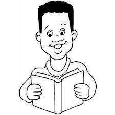 Boy Reading Book BooksFree Coloring