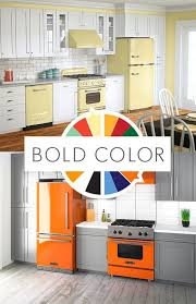 Bold Color Retro Design Big Chills Professional Grade And Styled Kitchen