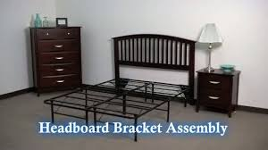 Bed Frame With Headboard And Footboard Brackets by Premier Universal Headboard Footboard Brackets Black Walmart Com