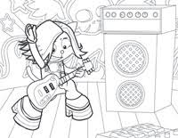 On Stage Coloring Pages