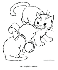 Persian Cat Coloring Pages Color Printable And Kitten Sheets