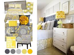 Little Notes Yellow Grey Bedroom Project