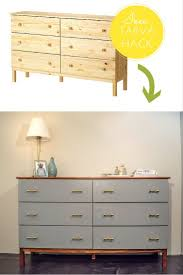 Malm 6 Drawer Dresser Dimensions by Best 25 Ikea Dresser Makeover Ideas On Pinterest Nightstands