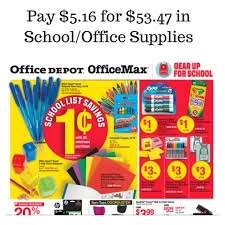 fice Depot ficeMax Back To School Sales 8 14 8 20 Pay $5 16
