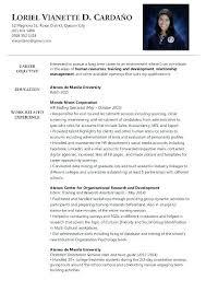 Business Administration Resume Samples Sample Resumes Template Cv Inside For Fresh Graduate