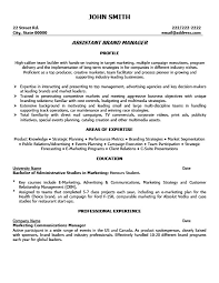 Assistant Brand Manager Resume