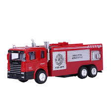 100 Toy Tanker Trucks 143 Alloy Pull Back Simulation Replica Fire Truck Model Kid