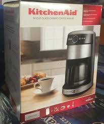 New KitchenAid KCM222CU 12 Cup Glass Carafe Coffee Maker Stainless Steel Black EBay