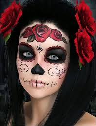 Halloween Half Mask Makeup by Best 25 Sugar Skull Makeup Ideas On Pinterest Sugar Skull