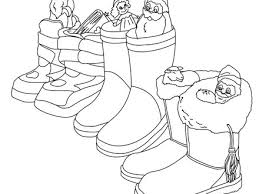 German Boots Filled With Gifts Coloring Pages Hellokidscom