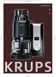 Pdf For Krups Coffee Maker KM7000 Manual