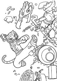 Master Tigress From Kung Fu Panda Coloring Pages For Kids Printable Free