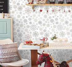 wohnzimmer tapeten schneeflockenmuster