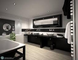 inspirationen für schwarz weißes bad design