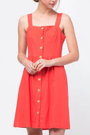 movint red button front dress from soho by mo vint u2014 shoptiques
