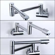 Wall Mounted Kitchen Faucet Single Handle by Wall Mount Kitchen Sink Faucet Folding Copper Sink Chrome Wall