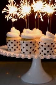 How fun are these sparkler cupcake toppers for a New Years Eve treat
