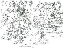 Pin Drawn Rainforest Coloring Page 1