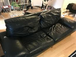real leather sofa 150