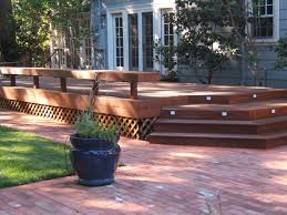Small Patio And Deck Ideas by Exterior Wonderful Home Design Ideas Using Dark Brown Also Patio