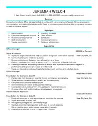 Office Manager Job Description For Resume Dental Construction Sample