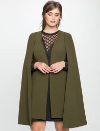 below the knee cape jacket cape jacket coats and blazers