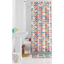 Gray Chevron Curtains 96 by Mainstays Multi Chevron Shower Curtain Walmart Com