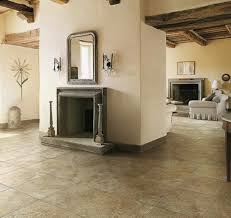 enchanting tile floor for rustic italian family room ideas with