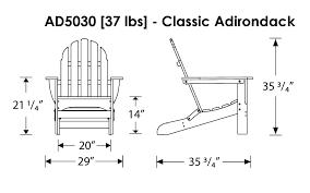 Polywood Folding Adirondack Chairs by Polywood Classic Folding Adirondack Chair