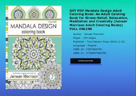 GET PDF Mandala Design Adult Coloring Book An For Stress Relief