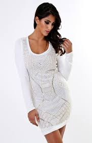 long sleeve bodycon dress dressed up