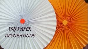 Birthday Decoration How To Make Paper Rosettes For PartiesPaper Craft Ideas