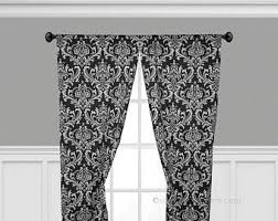 Black And White Curtain Panels Window Treatments Curtains Custom Drapes Living Room Dining Decor