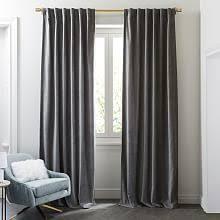 Dkny Modern Velvet Curtain Panels by Velvet Curtains West Elm
