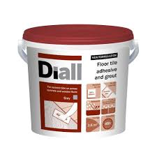 diall ready to use floor tile adhesive grout grey 14 6kg