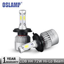 led headlight conversion kit hi lo beam cob led headlights 72w