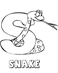 Snake Alphabet Coloring Page