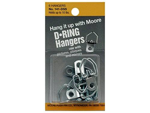 Moore D Ring Hanger - Small, 6 Pack