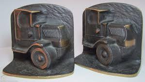 100 Old Mack Trucks Truck Bookends Bronze Brass High Relief Heavy Pair