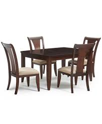 metropolitan contemporary 5 piece dining table and 4 side chairs
