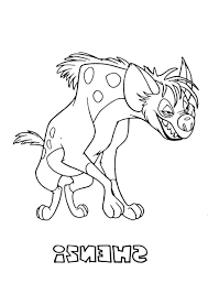 Lion King Hyena Coloring Page River Dolphin Pages Photos